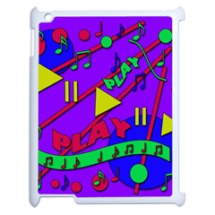 Music 2 Apple Ipad 2 Case (white) by Valentinaart