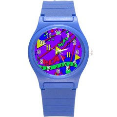 Music 2 Round Plastic Sport Watch (s)