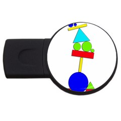 Balance  Usb Flash Drive Round (2 Gb)  by Valentinaart