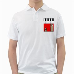 Piano  Golf Shirts by Valentinaart