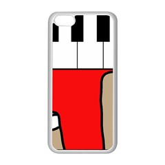 Piano  Apple Iphone 5c Seamless Case (white) by Valentinaart