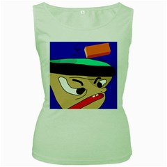 Accident  Women s Green Tank Top