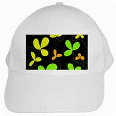Floral Design White Cap by Valentinaart