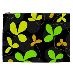 Floral Design Cosmetic Bag (xxl)  by Valentinaart
