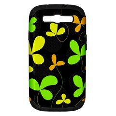 Floral Design Samsung Galaxy S Iii Hardshell Case (pc+silicone) by Valentinaart