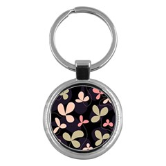 Elegant Floral Design Key Chains (round)  by Valentinaart
