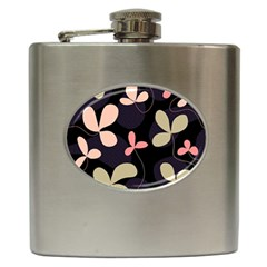 Elegant Floral Design Hip Flask (6 Oz) by Valentinaart
