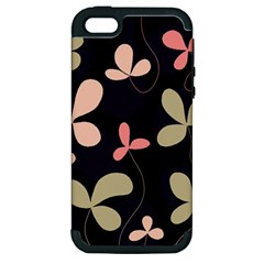 Elegant Floral Design Apple Iphone 5 Hardshell Case (pc+silicone) by Valentinaart
