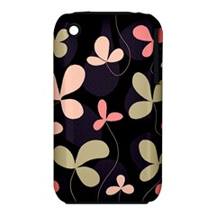 Elegant Floral Design Apple Iphone 3g/3gs Hardshell Case (pc+silicone)