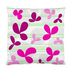 Magenta Floral Pattern Standard Cushion Case (one Side) by Valentinaart