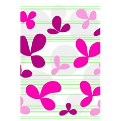 Magenta Floral Pattern 5 5  X 8 5  Notebooks