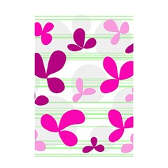 Magenta Floral Pattern Shower Curtain 48  X 72  (small)  by Valentinaart