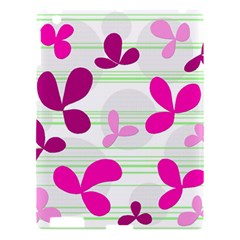 Magenta Floral Pattern Apple Ipad 3/4 Hardshell Case
