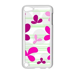 Magenta Floral Pattern Apple Ipod Touch 5 Case (white) by Valentinaart