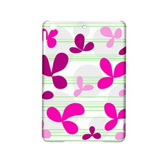 Magenta Floral Pattern Ipad Mini 2 Hardshell Cases by Valentinaart