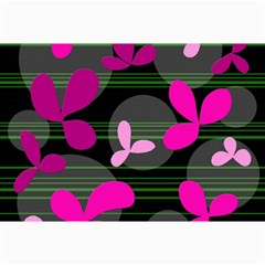 Magenta Floral Design Collage Prints by Valentinaart