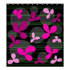Magenta Floral Design Shower Curtain 66  X 72  (large)  by Valentinaart