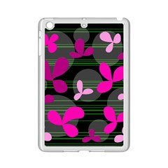 Magenta Floral Design Ipad Mini 2 Enamel Coated Cases by Valentinaart