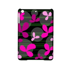 Magenta Floral Design Ipad Mini 2 Hardshell Cases by Valentinaart