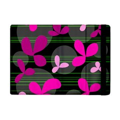 Magenta Floral Design Ipad Mini 2 Flip Cases by Valentinaart