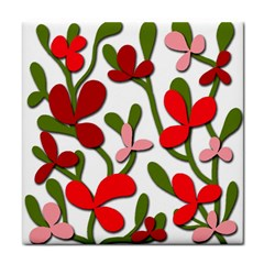 Floral Tree Tile Coasters