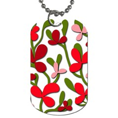 Floral Tree Dog Tag (two Sides) by Valentinaart
