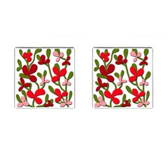 Floral Tree Cufflinks (square) by Valentinaart