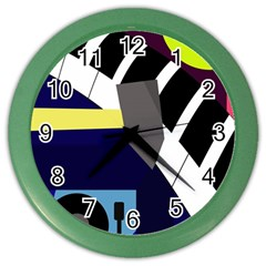Hard Color Wall Clocks by Valentinaart