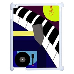 Hard Apple Ipad 2 Case (white) by Valentinaart