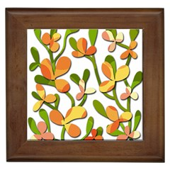 Decorative Floral Tree Framed Tiles by Valentinaart