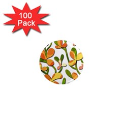 Decorative Floral Tree 1  Mini Magnets (100 Pack)  by Valentinaart