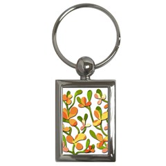 Decorative Floral Tree Key Chains (rectangle)  by Valentinaart