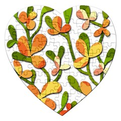 Decorative Floral Tree Jigsaw Puzzle (heart) by Valentinaart