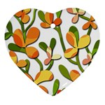 Decorative floral tree Heart Ornament (2 Sides) Front