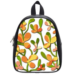 Decorative Floral Tree School Bags (small)  by Valentinaart