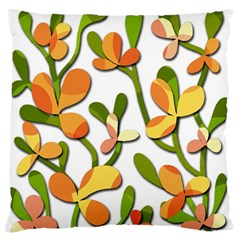 Decorative Floral Tree Large Flano Cushion Case (two Sides) by Valentinaart