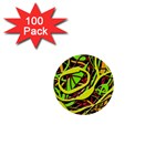 Snake bush 1  Mini Buttons (100 pack)  Front