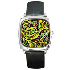 Snake Bush Square Metal Watch by Valentinaart