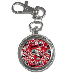 Agghh Pattern Key Chain Watches