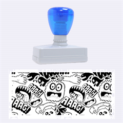 Agghh Pattern Rubber Stamps (large) by AnjaniArt
