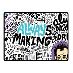 Always Making Pattern Fleece Blanket (small) by AnjaniArt