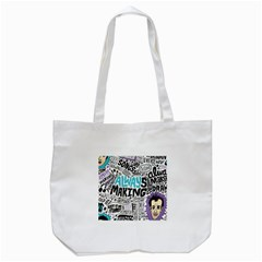 Always Making Pattern Tote Bag (white) by AnjaniArt