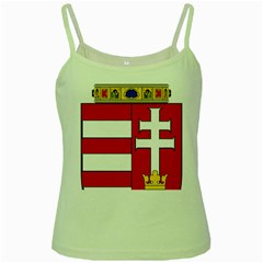 Medieval Coat Of Arms Of Hungary  Green Spaghetti Tank