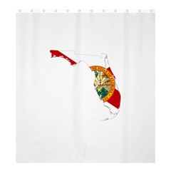 Flag Map Of Florida Shower Curtain 66  X 72  (large)  by abbeyz71