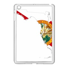 Flag Map Of Florida Apple Ipad Mini Case (white) by abbeyz71