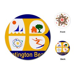 Flag Of Huntington Beach, California Playing Cards (round)  by abbeyz71