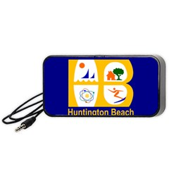 Flag Of Huntington Beach, California Portable Speaker (black)  by abbeyz71