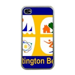 Flag Of Huntington Beach, California Apple Iphone 4 Case (clear) by abbeyz71