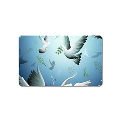 Animated Nature Wallpaper Animated Bird Magnet (name Card) by AnjaniArt