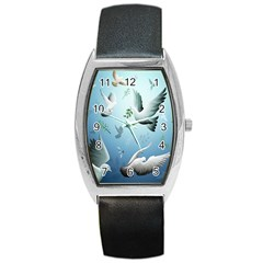 Animated Nature Wallpaper Animated Bird Barrel Style Metal Watch by AnjaniArt
